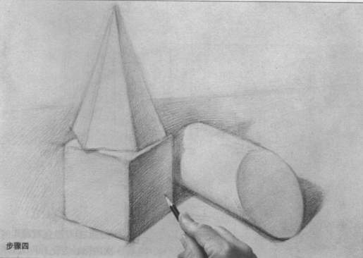 几何形体写生步骤