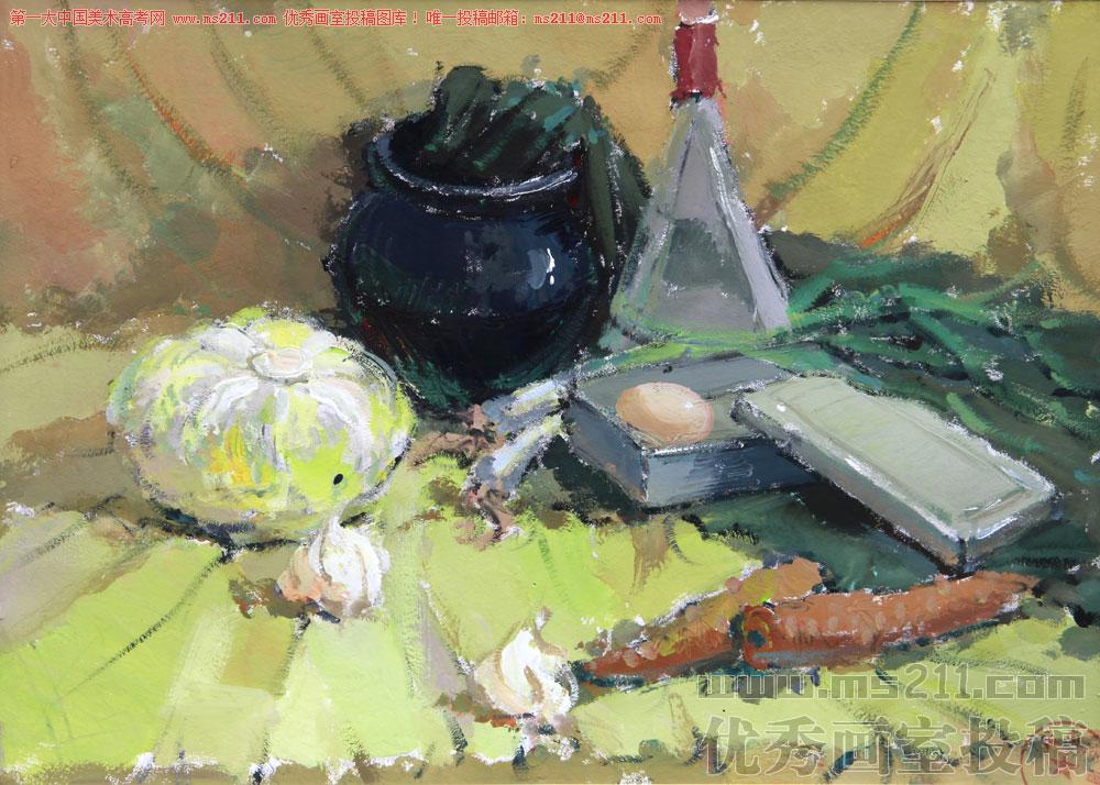 成都高地国美西南画室-美术高考-水粉静物-投稿作品