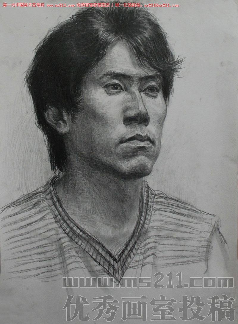 北京何尚画室-美术高考-素描头像-投稿作品