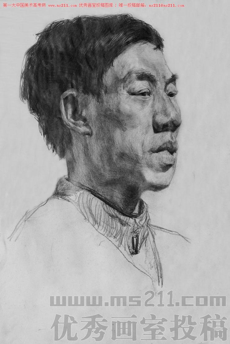 北京印象画室-美术高考-素描头像-投稿作品