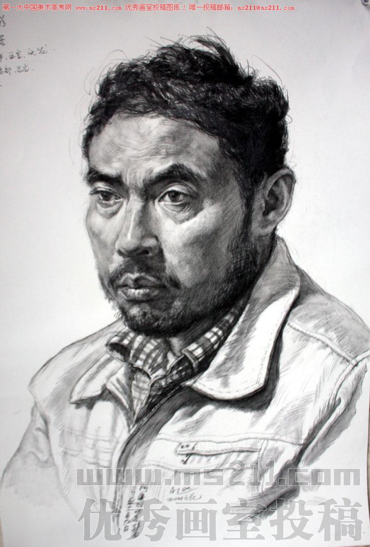北京艺行画室-美术高考-素描头像-投稿作品201304291