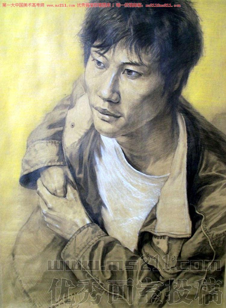 北京艺行画室美术高考素描头像投稿作品