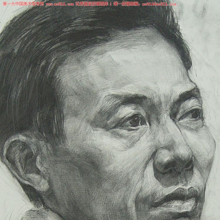 武汉博昱画室-美术高考-素描头像-投稿作品201305031