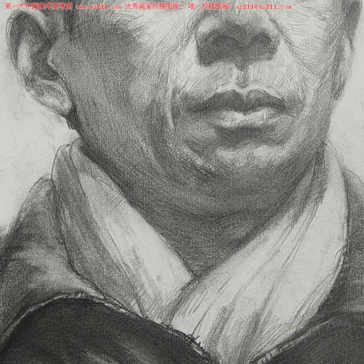 武汉博昱画室-美术高考-素描头像-投稿作品