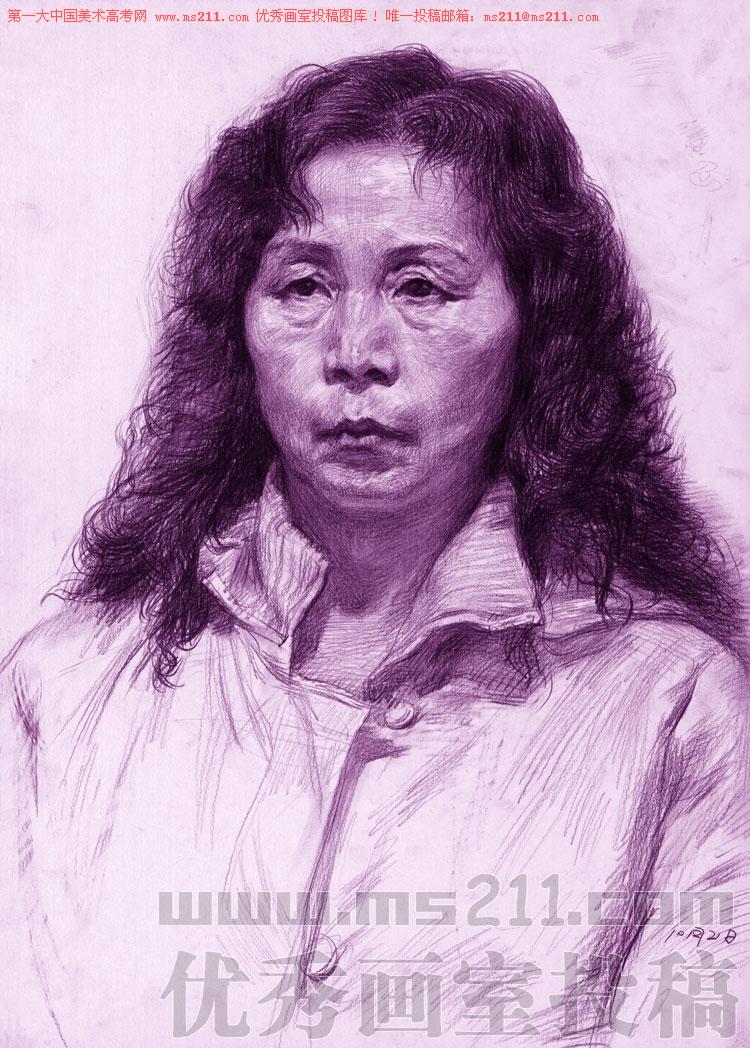 北京孙逊画室,美术高考素描头像投稿作品2013060106