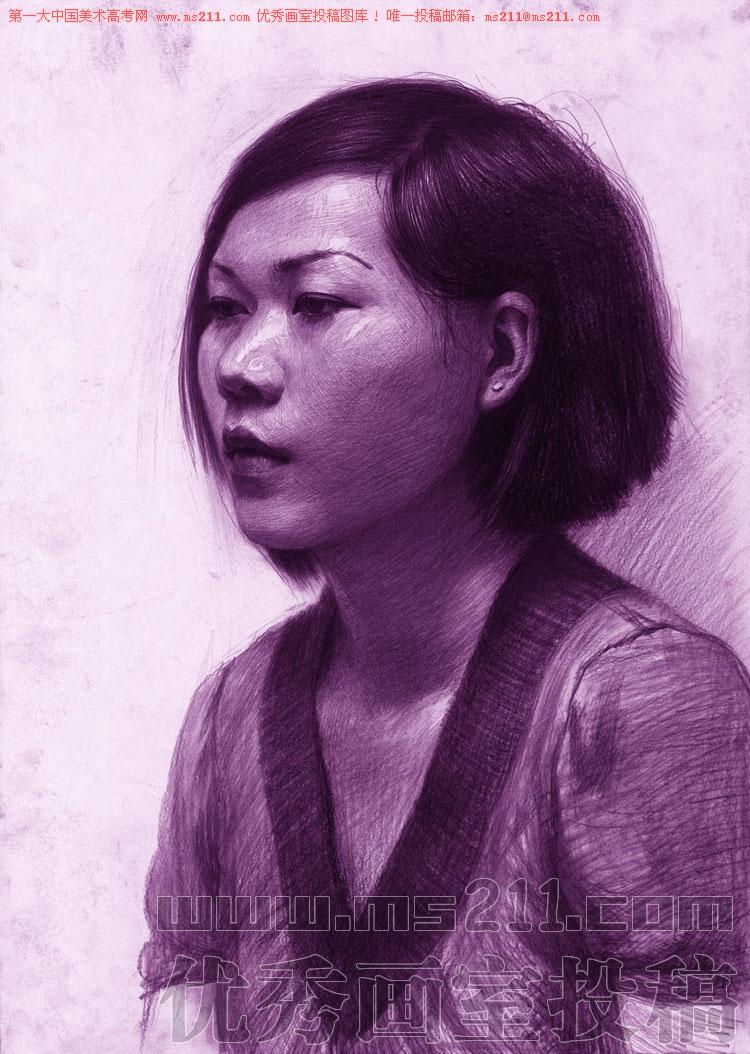 北京孙逊画室,美术高考素描头像投稿作品2013060306