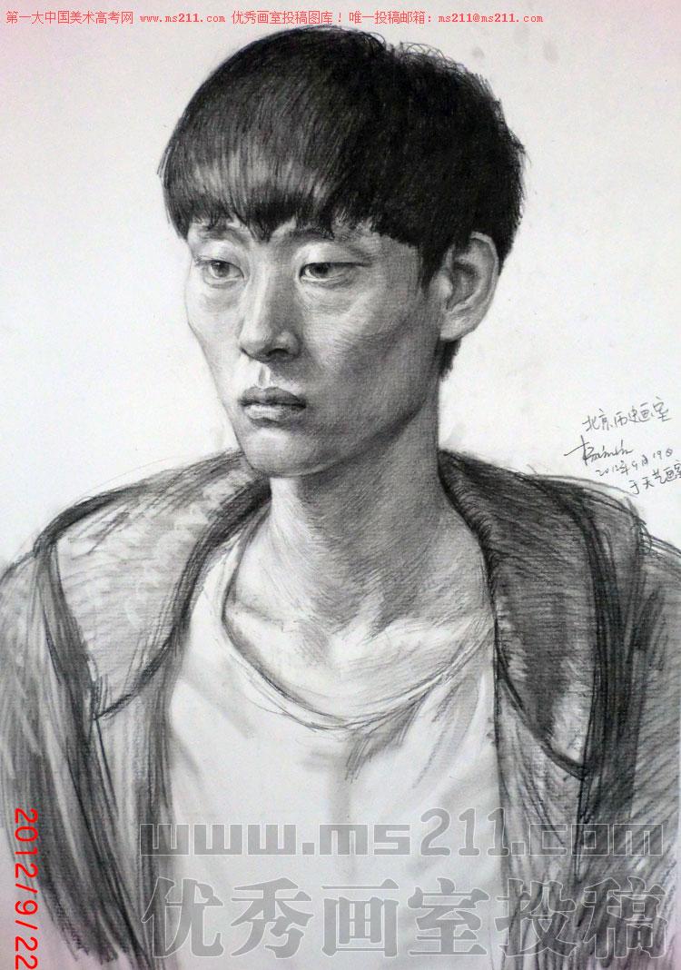 北京历史画室,美术高考素描头像投稿作品2013112006