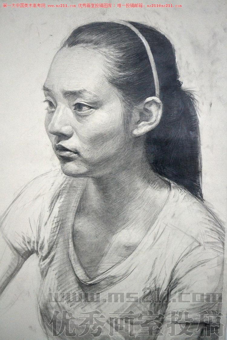 北京历史画室美术高考素描头像投稿作品2013112509