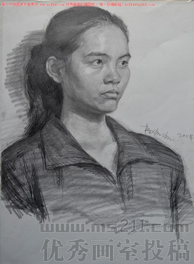北京历史画室,美术高考素描头像投稿作品2013112803