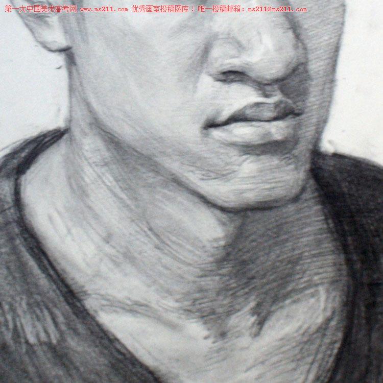 北京历史画室,美术高考素描头像投稿作品2013112908