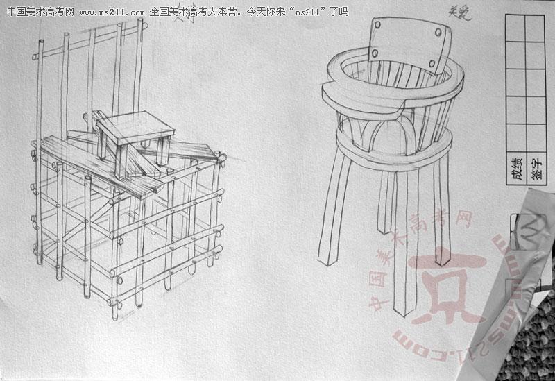 创意椅子设计手绘图展示