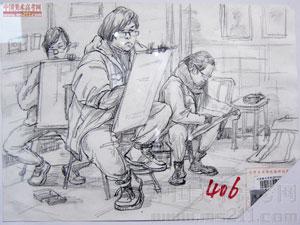 2014年天津美术学院优秀美术试卷(速写人物)2014122901