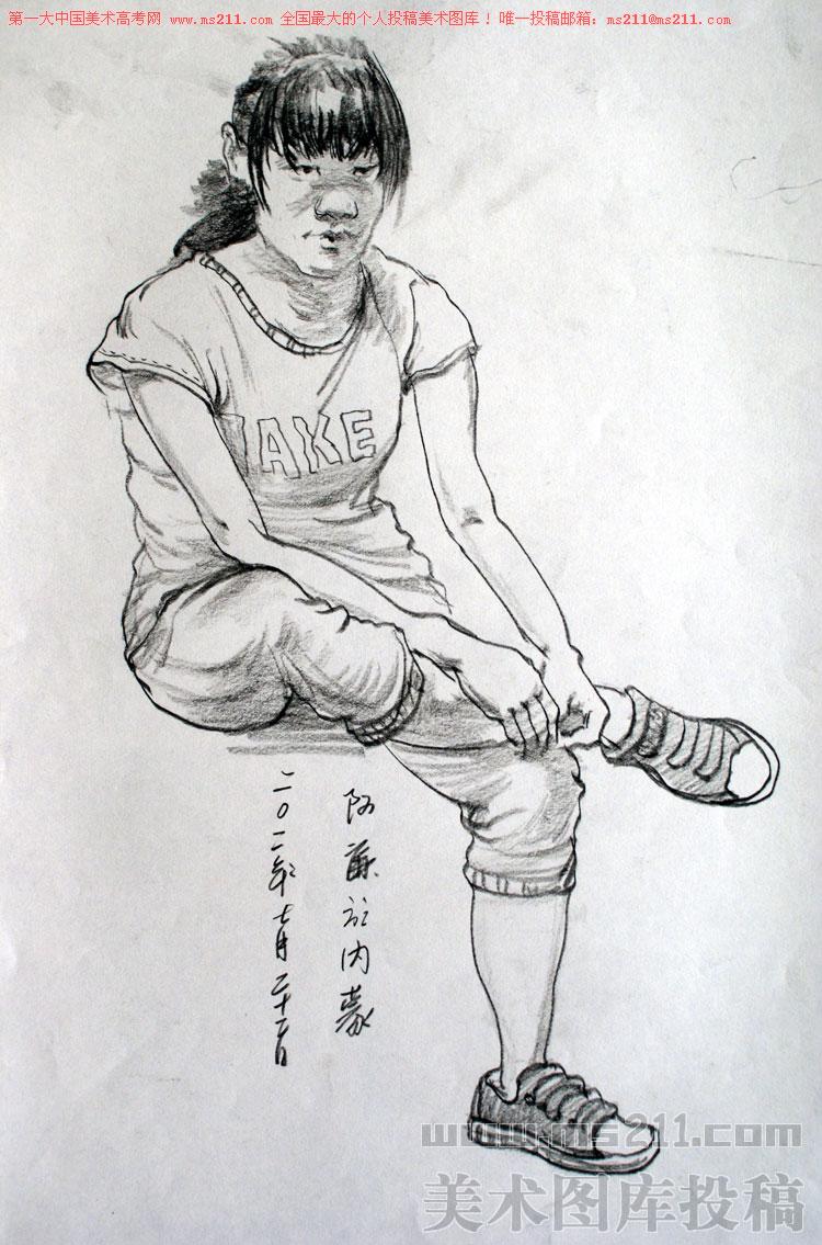 人物雕塑手绘稿