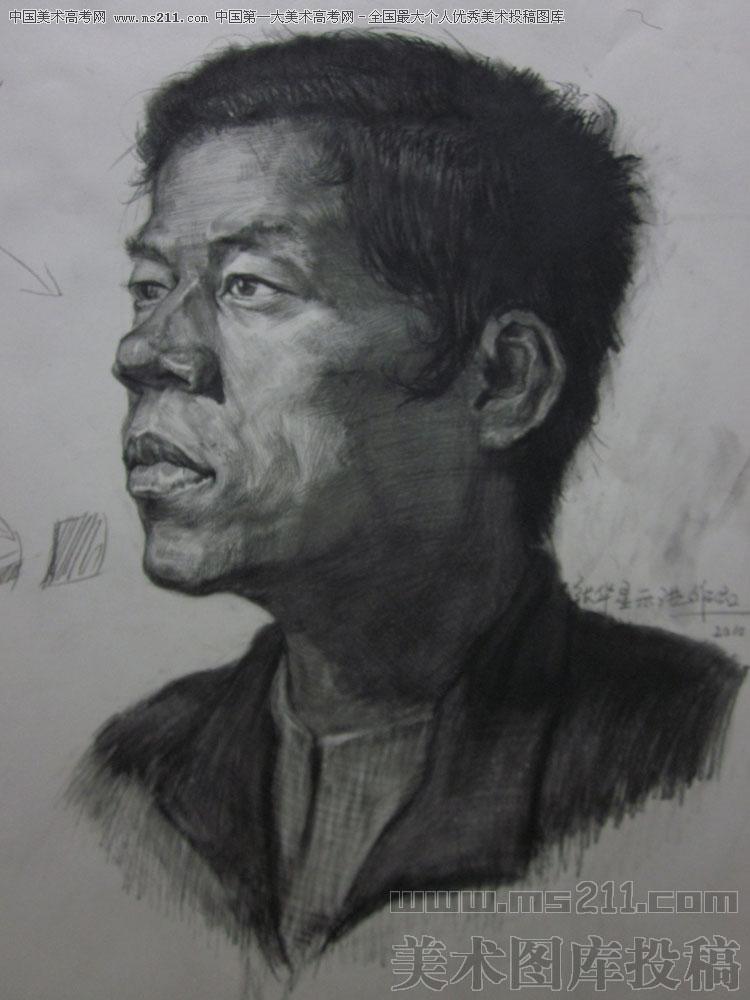 合肥徽州 张华星 素描头像 美术高考投稿作品11