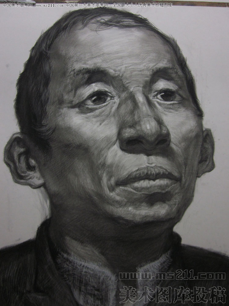 合肥徽州,张华星,素描头像美术高考投稿作品2011022303