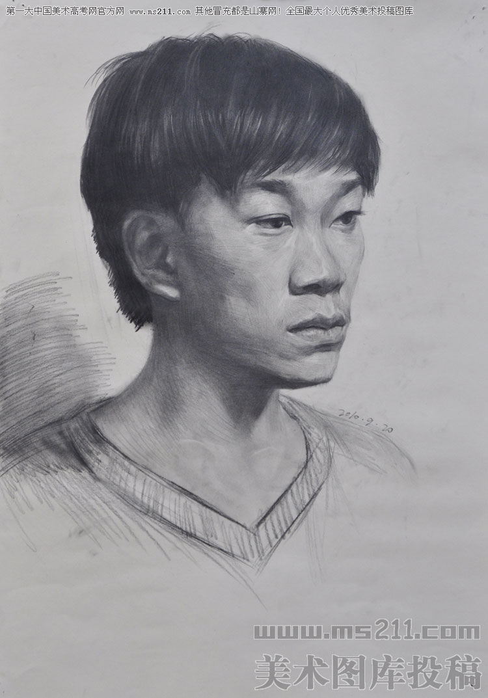 素描头像美术高考投稿作品
