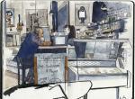 英国画家Wil Freeborn 的旅行速写本