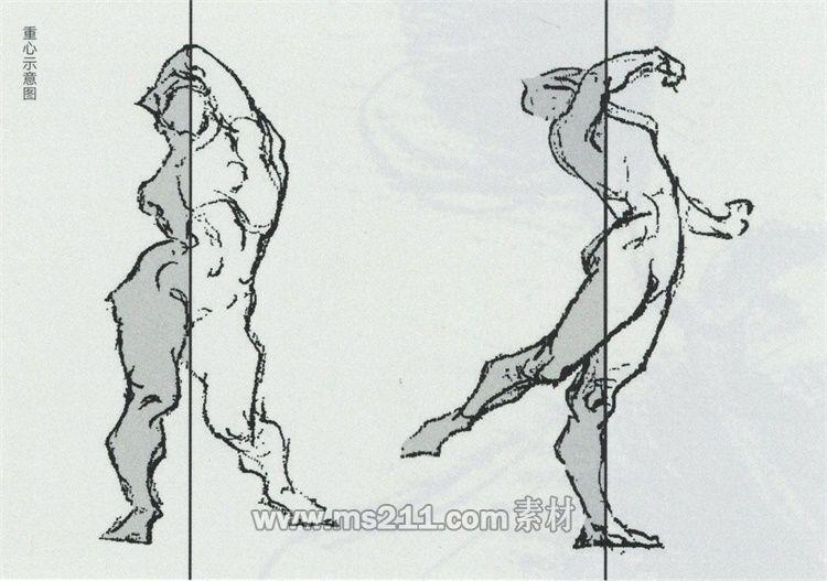 动态与重心-51美术网