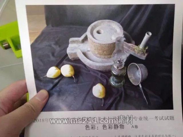 2018年上海美术联考色彩考题